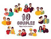 Child,Adult,Horizontal,Togetherness,Romance,Boys,Men,Women,Love,Cute,Illustration,People,Husband,Fashion,Family,Avatar,Married,Arts Culture and Entertainment,Vector
