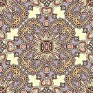 Square,No People,Flower,Illustration,Outline,Seamless Pattern,Multi Colored,Floral Pattern