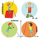 Child,Vertical,Learning,Boys,Adult Student,Biology,Educational Subject,Computer Graphics,Book,Collection,Physical Education,Literature,Science,Illustration,Symbol,Sport,Teaching,Computer Graphic,Education,Algebra