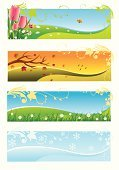Four Seasons,Season,Springtime,Banner,Summer,Backgrounds,Autumn,Nature,Winter,Butterfly - Insect,Flower,Symbol,Vector,Christmas,Weather,Grass,Ilustration,Snow,Tulip,Floral Pattern,Blue,Snowflake,Sunlight,Green Color,Design,Decoration,Maple Leaf,Yellow,Red,Colors,Four Object,Branch,Vector Backgrounds,Image,Painted Image,Holidays And Celebrations,Illustrations And Vector Art,Copy Space,Orange Color,Horizontal