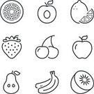 60527,Square,Cut Out,Freshness,No People,Vitamin,Cherry,Food and Drink,Kiwi - Fruit,Single Line,Illustration,Symbol,Banana,Strawberry,Food,Flat,Fruit,Pear,Peach,Healthy Eating,Orange - Fruit,Lemon,Group Of Objects,Apple - Fruit
