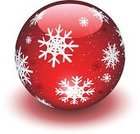 Christmas Ornament,Christmas,Red,Decoration,Snow Globe,Symbol,Sphere,Backgrounds,Vector,Christmas Decoration,Snowflake,Glass - Material,Ilustration,Pattern,Isolated On White,No People,Design