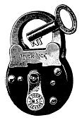 Engraving,Key,Lock,Ilustration,Antique,Engraved Image,Old-fashioned,Padlock,Retro Revival,Old,Classic,Design,Image Created 19th Century,Line Art,Art,Victorian Style,Cut Out,Protection,Single Object,High Contrast,Close-up,Front View,Image Date,Painted Image,Photograph,Still Life,detachable,Illustrations And Vector Art,Paintings,Medicine And Science,No People,Portrable,Isolated,Backgrounds,White Background,Equipment,Obsolete,Vertical,Black And White,Studio Shot,Isolated On White,Image