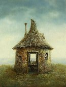 Fantasy,Fairy Tale,House,Illustration Technique,Ilustration,Home Interior,Paintings,Rustic,Retro Revival,Still Life,Small,Old,Pipe - Tube,Window,Grunge,Rural Scene,Painted Image,Single Object,Textured Effect,Old-fashioned,Roof,Ancient,Image,Vertical,Acrylic Painting,Imagination,Arts And Entertainment,Comfortable,Allegory Painting,Grass,Illustrations And Vector Art,Visual Art,Sky,Arts Symbols,Entrance