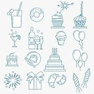 Square,Celebration,Candy,Computer Graphics,Line Art,Candle,Birthday Present,Template,Collection,Illustration,Icing,Birthday,Symbol,Food,Outline,Computer Graphic,Snack,Decoration,Vine - Plant,Cupcake,Gift,Dessert,Event,Cake,Fun,Vector