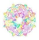 Vertical,Cut Out,No People,Illustration,Circle,Mandala,Watercolor Paints,Curve,Rainbow,Multi Colored