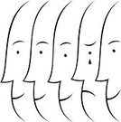 Human Face,Profile View,Human Head,Silhouette,Side View,People,Symbol,In A Row,Solidarity,Vector,Sadness,Community,Unity,Teamwork,Simplicity,Tear,Crying,Togetherness,Ilustration,Characters,Concepts,Ideas,Design,Unrecognizable Person,White Background,Individuality,Style,Illustrations And Vector Art,Travel Locations,persons face,People,Human Gender,Holidays,Conceptual Symbol,Partnership,Design Element