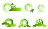 Sign,Leaf,Green Color,Circle,Abstract,Design Element,Symbol,Internet,Creativity,Label,Image,Vector,Shape,Sphere,Shiny,Striped,Pattern,Computer Icon,Computer Graphic,Reflection,Isolated,Modern,Geometric Shape,No People,Symmetry,Style,Decoration,Vector Icons,Painted Image,Objects with Clipping Paths,Star Shape,Illustrations And Vector Art,Collection,Isolated On White,Isolated Objects