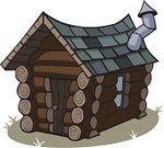 Cabin,Log Cabin,Cartoon,Clip Art,Vector,Ilustration,Vector Cartoons,Architecture And Buildings,Illustrations And Vector Art,Isolated