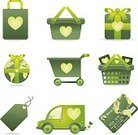 Shopping Cart,Green Color,Delivery Van,Shopping,Shopping Bag,Bag,Delivering,Gift Tag,Gift,Retail,Credit Card,Shopping Icons,Swing Tag,Vector Icons,Consumerism,Concepts And Ideas,internet icons,ecommerce icons,Illustrations And Vector Art