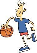 Basketball,Basketball - Sport,Cartoon,Exercising,Competition,Isolated On White,Playing,Vector,Male,Ilustration