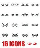 Vertical,Humor,Human Eye,Cartoon,Arranging,Displeased,Illustration,People,Icon Set,Computer Icon,Symbol,Human Body Part,Happiness,Eye,Sadness,Vector,Set,Human Face,Emotion,Anger,Smiling,Facial Expression,Black Color