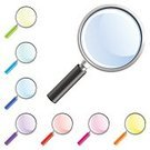 Magnifying Glass,Glass - Material,Symbol,Searching,Computer Icon,Lens - Optical Instrument,Blue,Ilustration,Pink Color,Vector,Green Color,Red,Magnification,Purple,Color Image,Technology,Vector Icons,Single Object,Illustrations And Vector Art,Isolated Objects