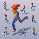 Adult,268360,Square,Women,Tracksuit,Pursuit - Sports Competition Format,Amintas,Females,Outdoors,Care,Leisure Activity,Sports Shoe,Exercising,Healthy Lifestyle,Activity,Vitality,Healthcare And Medicine,City,Illustration,People,Motion,Human Body Part,Infographic,Sport,Body Care,Sports Clothing,Low-Poly-Modelling,Running,Effort,Marathon,Jogging,Isometric Projection,Young Adult,City Life,,Speed,Lifestyles,Vector