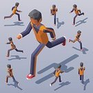 Adult,268360,Square,Men,Relaxation Exercise,Tracksuit,Pursuit - Sports Competition Format,Amintas,Outdoors,Care,Leisure Activity,Sports Shoe,Exercising,Healthy Lifestyle,Activity,Vitality,Healthcare And Medicine,City,Illustration,People,Motion,Side View,Canvas Shoe,Human Body Part,Infographic,Sport,Body Care,Sports Clothing,Running Spikes,Low-Poly-Modelling,Running,Effort,Marathon,Jogging,Isometric Projection,Front View,High Angle View,Rear View,Young Adult,City Life,Speed,Lifestyles,Vector