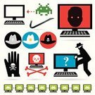 Computer Hacker,Computer,Symbol,Burglar,Aggression,Computer Bug,hack,Alien,Question Mark,Human Face,Human Hand,Sadness,Burglary,Cowboy Hat,Surveillance,Internet,Computer Network,Science,Black Color,Criminal,White,Communication,Anthropomorphic Face,Stealing,scammers,Cloning,Technology,Daisy Chain,Crime,Human Skull,Examining,Shield,Death,Denial Of Service,Cyber Attack,Space Invader,Cyber Crime,infect,Currency,Protection,www,Microscope,Gray,Scrutiny,Badge