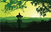 Landscape,Japanese Culture,Japan,China - East Asia,Forest,Vector,Mountain,Silhouette,Tree,Nature,Mountain Range,Non-Urban Scene,Backgrounds,Valley,Back Lit,Green Color,Fog,Sunset,Scenics,Ilustration,Panoramic,Night,Lantern,Sun,Hill,Sky,Adventure,Land,Horizontal,East,Twilight,Sunlight,Viewpoint,Recreational Pursuit,Focus On Background,Horizon,Morning,Looking Through Window,Outdoors,Bush,Looking At View,Vector Florals,Plant,Illustrations And Vector Art,Beauty In Nature,Dusk,Vector Backgrounds