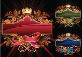 Banner,Crown,Placard,Insignia,Elegance,Gold,Gold Colored,Shield,Old-fashioned,Nobility,Vector,Ornate,Retro Revival,filigree,Design,Swirl,Baroque Style,Scroll Shape,Backgrounds,heraldic,Multi Colored,Feather,Award Plaque,Memorial Plaque,Abstract,Sign,Gothic Style,Medieval,Victorian Style,Funky,Vignette,Ilustration,Shiny,Computer Graphic,Paintings,Antique,Symbol,Leaf,Style,Rococo Style,Cartouche,Arts And Entertainment,Illustrations And Vector Art,Arts Backgrounds,Arts Abstract,Vibrant Color,Copy Space,Vector Backgrounds,flourishes,Clip Art,Decoration