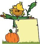 Scarecrow,Autumn,Halloween,Cheerful,Hay,Corn - Crop,Pumpkin,Straw,Happiness,Brown,Yellow,Orange Color,Placard,Halloween,Green Color,Grass,Vector Cartoons,Isolated Objects,Holidays And Celebrations,Illustrations And Vector Art,Straw Man,Retail Display