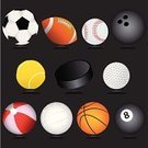 Sport,Ball,Symbol,Ice Hockey,Icon Set,Computer Icon,Equipment,Tennis,Beach Ball,Volleyball,Black Color,Pool Ball,Soccer,Bowling,Basketball,Golf,Ten Pin Bowling,Football,Sports And Fitness,Sports Symbols/Metaphors,Illustrations And Vector Art,Vector,Baseballs,Ilustration,Recreational Pursuit