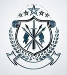 268399,Vertical,Composition,Elegance,Honor,Retro Styled,Protection,Computer Graphics,Victorian Style,Army,Pentagon,Armory,Award,Sword,Bay Tree,Illustration,Coat Of Arms,Leaf,Arrow - Bow and Arrow,Symbol,Spear,Weapon,Sharp,Computer Graphic,Aubusson,Insignia,Royalty,War,Award Ribbon,Hand Tool,Arts Culture and Entertainment,Star Shape,Vector,Sheriff,Design,Pentagon,Label,Badge,Pattern,Design Element