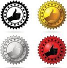 Thumb,warranty,Symbol,Moving Up,Certificate,Award,Computer Icon,Sign,Vector,Satisfaction,Confidence,Label,Human Hand,Elegance,Black Color,Design,Gold Colored,Isolated,Choice,Insignia,White,Ilustration,Agreement,template,Retail/Service Industry,Part Of,Design Element,Industry,Vector Icons,Illustrations And Vector Art,Business Symbols/Metaphors,Business
