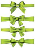 81352,Vertical,Celebration,No People,Illustration,Symbol,Ribbon - Sewing Item,Gift,Tied Bow,Decor,Vector,Single Object,Design,Group Of Objects,Satin,Vibrant Color,Silk,Green Color