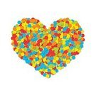 Square,Romance,No People,Art And Craft,Art,Paper,Illustration,Shape,Backgrounds,Confetti,Vector,Multi Colored