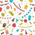 Square,No People,Background,Ornate,Cartoon,Illustration,Birthday,Bright,Ribbon - Sewing Item,Food,Balloon,Seamless Pattern,Decoration,Cupcake,Backgrounds,Tied Bow,Vector,Bright,Multi Colored,Pattern
