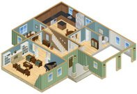 Home Interior,Plan,Isometric,Residential Structure,Furniture,Architecture,Slice,Domestic Bathroom,Bedroom,Garage,Study,Dining Room,Homes,Architecture Backgrounds,Architectural Detail,Architecture And Buildings