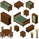 Isometric,Table,Furniture,Bed,Chair,Electric Lamp,Home Interior,Bookshelf,Coffee Table,Side Table,Architecture Backgrounds,Homes,Architecture And Buildings,Backgrounds,Architectural Detail