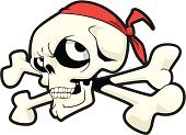 Pirate,Skull and Crossbones,Tattoo,Cartoon,Human Bone,Halloween,Vector,Clip Art,Horror,Human Teeth,White,Symbol,People,Dead Person,Isolated,Shape,Illustrations And Vector Art,Death,Isolated On White,Computer Graphic,White Background,Evil,Ilustration,Shock