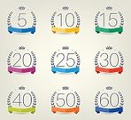 Horizontal,Retro Styled,No People,Number 60,Anniversary,Banner,Number 15,Number 20,Number 30,Number 40,Illustration,Computer Icon,Birthday,Symbol,Banner - Sign,Number 50,Jubilee,Number 5,Number 10,Number 25,Laurel Wreath