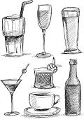 Drink,Sketch,Drawing - Art Product,Cocktail,Beer - Alcohol,Doodle,Pencil Drawing,Milkshake,Alcohol,Drinking,Glass - Material,Coffee - Drink,Bottle,Champagne,Ilustration,Alcohol,Cup,Incomplete,Party - Social Event,Ready-To-Eat,Cafe,Cold - Termperature,Whiskey,Rum,Man Made,latte macchiato,Addiction,Merchandise,White Background,Black Color,Vodka,Food and Drink Establishment,Cut Out,Bar Counter,Heat - Temperature,Narcotic,Latte