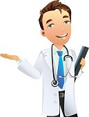 Doctor,Healthcare And Medicine,Ilustration,Vector,Men,People,Stethoscope,Cheerful,Smiling,Occupation,Expertise,Professional Occupation,Service,General Practitioner,One Person,Medical,Isolated-Background Objects,People,Isolated On White,Medicine And Science,Isolated Objects
