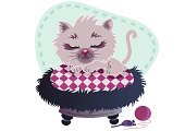 Domestic Cat,Sleeping,Persian Cat,Pet Toy,Pet Bed,Fluffy,Cartoon,Cute,Ilustration,Kitten,Animal,Pets,Vector,Wool,Mouse,Paintings,Gray,Computer Graphic,Resting,Young Animal,Dreamlike,Purple,Blue,Black Color,Illustrations And Vector Art,Animals And Pets,Image,Cats,Vector Cartoons,Clip Art,Design,Tail,Baby Animals