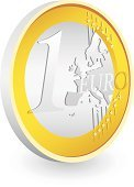 European Union Coin,Coin,Gold Colored,Europe,Vector,Three-dimensional Shape,Currency,Ilustration,Illustrations And Vector Art,Isolated Objects,Shadow,Finance,Business,Banking