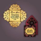 Square,Abstract,Elegance,Luxury,No People,Greeting Card,Illustration,Envelope,Postcard,Classic,Decoration,Design,Gold Colored,Lace - Textile,Pattern,Floral Pattern