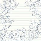 Doodle,Swirl,Notebook,Incomplete,Frame,Lined Paper,Paper,Drawing - Art Product,Teen Pop,Scroll Shape,Vector,Hand-drawn,Scribble,Pencil Drawing,Abstract,Vector Ornaments,Vector Backgrounds,Ilustration,Illustrations And Vector Art