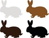 Horizontal,Silhouette,Background,Carrot,Animal,Animal Ear,Mammal,Animals In The Wild,Illustration,Rabbit - Animal,Easter,Pets,Backgrounds,Animal Body Part,Easter Bunny,Vector,Domestic Animals,Gray,Black Color,Brown