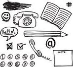 Pencil,Telephone,Scribble,Sketch,Doodle,Drawing - Art Product,Number,Circle,Symbol,Note Pad,Single Word,Pencil Drawing,Ilustration,Black Color,Smiley Face,Speech Bubble,hand drawn,'at' Symbol,Rotary Phone,Design Element,Illustrations And Vector Art