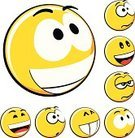 Emoticon,Smiley Face,Smiling,Human Face,Sphere,Three-dimensional Shape,Yellow,Circle,Vector,Computer Icon,White Background,Vector Icons,Illustrations And Vector Art