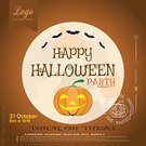 Square,Background,Illustration,People,Hill,Backgrounds,Halloween,Pumpkin,Vector,Party - Social Event,Black Color,Yellow,Brown