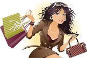 Fashion,Women,Shopping,Purse,Ilustration,Retail,Mobile Phone,Coat,Sunglasses,Shopping Bag,Clip Art,Industry,Retail/Service Industry,Fashion,Beauty And Health,One Woman Only,People