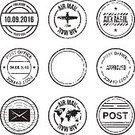 268611,Square,Cut Out,Retro Styled,Grunge,No People,Mail,Old-fashioned,Illustration,Symbol,Watermark,Circle,Menemsha Harbor,Antique,Seal - Stamp,Postage Stamp,Vector,Label