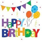 Square,No People,Illustration,Birthday,Balloon,Bunting,Backgrounds,Confetti,Vector,Text,Multi Colored,Greeting