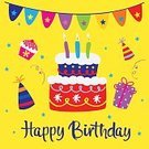 Square,Celebration,No People,Illustration,Birthday,Bunting,Backgrounds,Confetti,Vector,Text,Multi Colored,Greeting