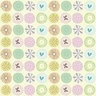 Pattern,Spotted,Baby Girls,Seamless,Retro Revival,Little Girls,Circle,Teenage Girls,Butterfly - Insect,Single Flower,Backgrounds,Old-fashioned,Women,Floral Pattern,Romance,Paper,Textile,Repetition,Vector,Fashion,Set,Wrapping Paper,Textile Industry,Wallpaper Pattern,Square,Nature,Clip Art
