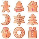 Cookie,Christmas,Gingerbread Cookie,Gingerbread Cake,House,Candy,Food,Vector,Gingerbread Man,Holiday,Snowman,Cartoon,Cake,Gift,Biscuit,Ilustration,Isolated,Cultures,Icing,Fir Tree,Collection,Christmas Ornament,Set,Snowflake,Bell,Sweet Food,Christmas Decoration,Design,Moon,Spruce Tree,Dessert,White,Pink Color,Homemade,Holiday Symbols,Vector Cartoons,Christmas,Image,Illustrations And Vector Art,Holidays And Celebrations