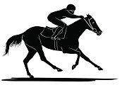 Horse Racing,Horse,Racehorse,Sports Race,Jockey,Silhouette,Vector,Running,Saddle,Speed,Sports And Fitness,Illustrations And Vector Art,Thoroughbred Horse,Animals And Pets